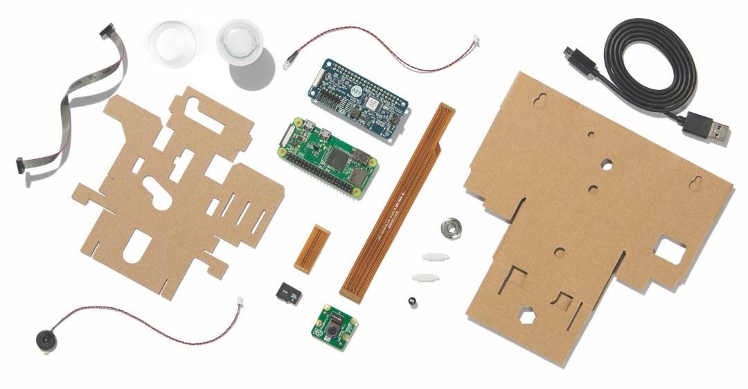Zawartość zestawu Google AIY Vision Kit