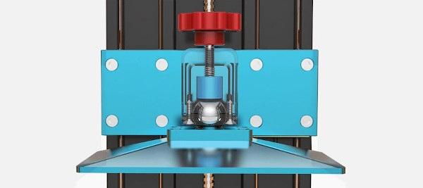 Poziomowanie platformy do drukowania.