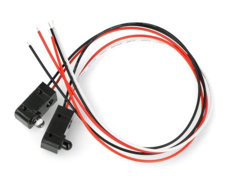 Czujnik przerwania wiązki IR - LED 5 mm.