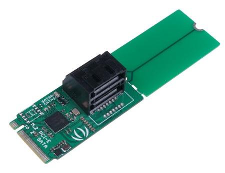 Dwuportowy konwerter PCIe 3.0x2 M.2 NGFF Key B na SATA 3.0 6Gb/s