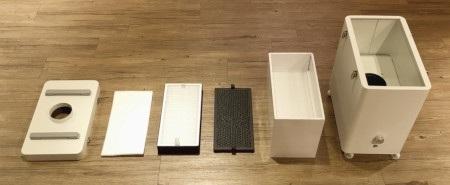 Urządzenie wykorzystuje 4-warstwowy system filtracji.