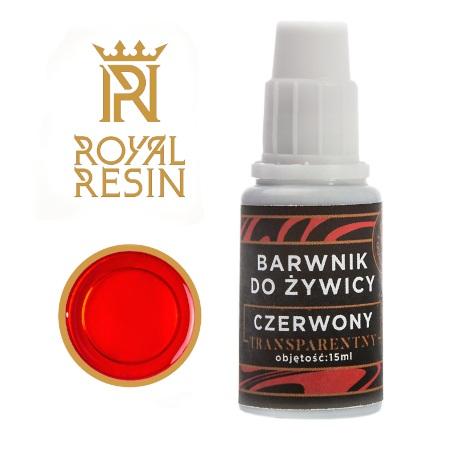 Barwnik do żywicy epoksydowej w kolorze czerwonym.