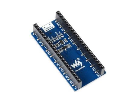 Wyświetlacz do Raspberry Pi Pico posiada specjalne wyprowadzenia do wygodnego łączenia z modułem głównym.