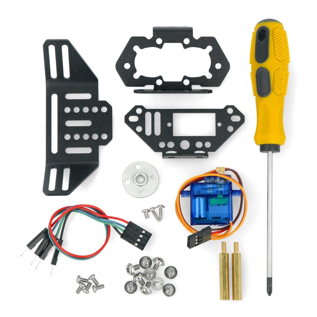 W zestawie znajdują się niezbędne elementy montażowe, takie jak śrubki oraz miedziane tuleje dystansowe.