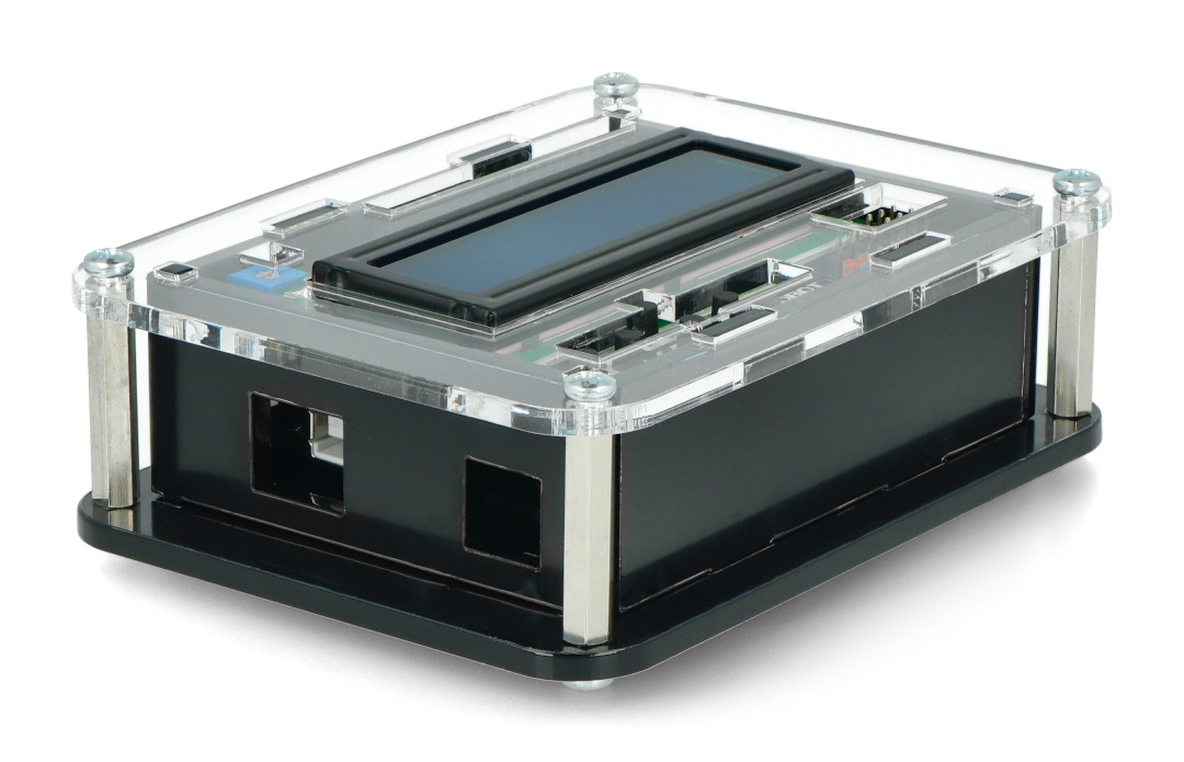 Przedmiotem sprzedaży jest sama obudowa bez elektroniki. Arduino Uno i LCD Keypad Shield v1.1 można nabyć osobno.