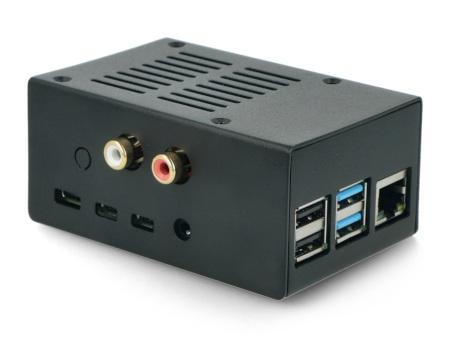 Obudowa do minikomputera Raspberry Pi 4B oraz nakładek HiFiBerry.