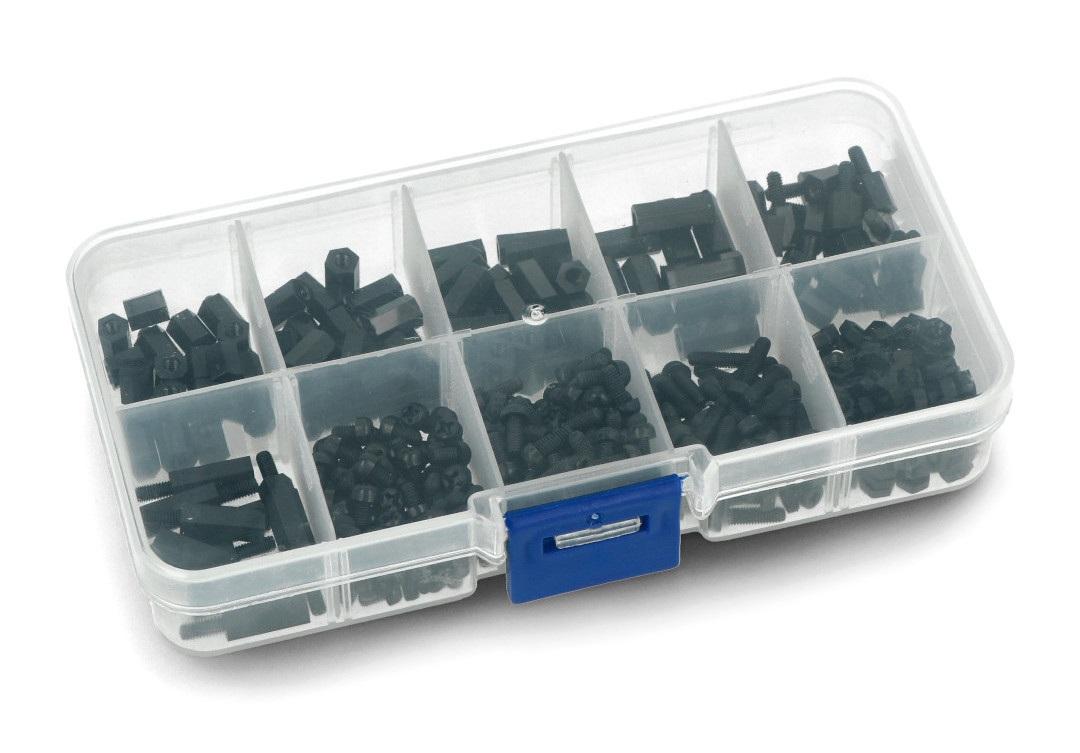 Zestaw śrubek i podkładek dystansowych do montażu Raspberry Pi Mounting Kit 5 - 380 elementów