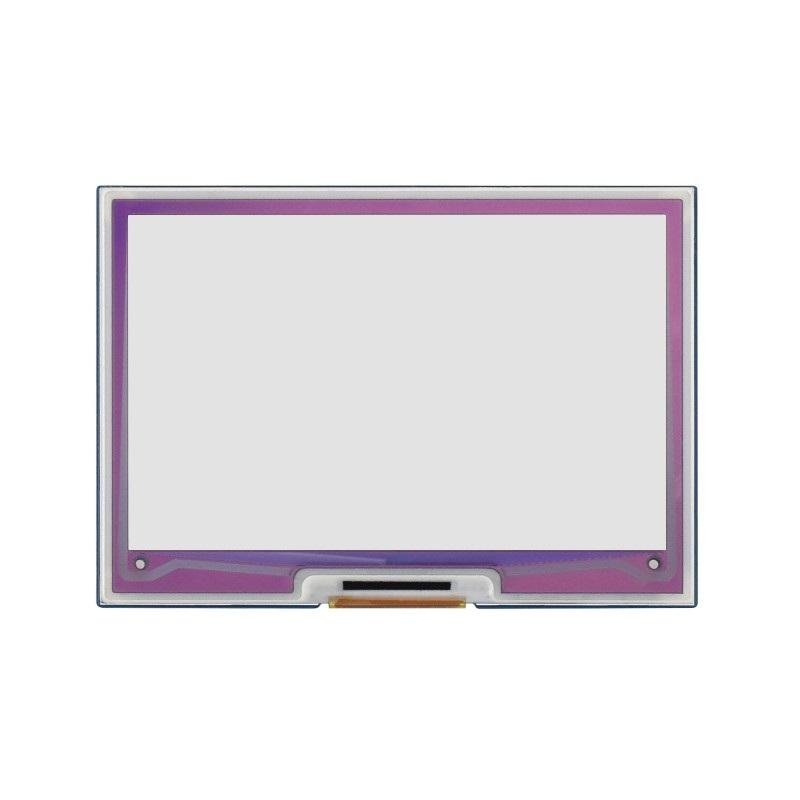 Wyświetlacz o rozdzielczości 640 x 400 px.