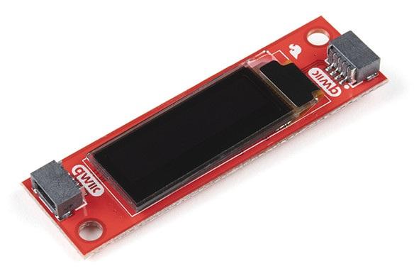 Wyświetlacz Qwiic OLED 0,91'' 128x32px I2C