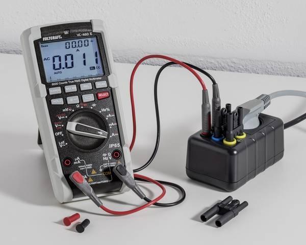 Pomiar prądu za pomocą adaptera. Miernik do nabycia oddzielnie