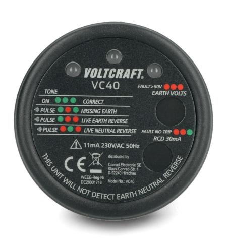 Tester gniazdek sieciowych Voltcraft VC40