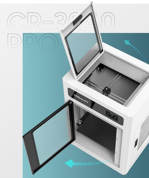Creality CR-3040 Pro ma zamkniętą komorę roboczą