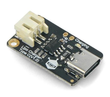 Zintegrowany moduł ładujący Lipo Charger posiada możliwość wyboru poziomu natężenia prądu ładującego.