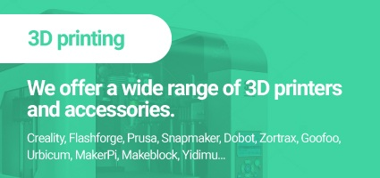 We offer a wide range od 3D printers and accessories