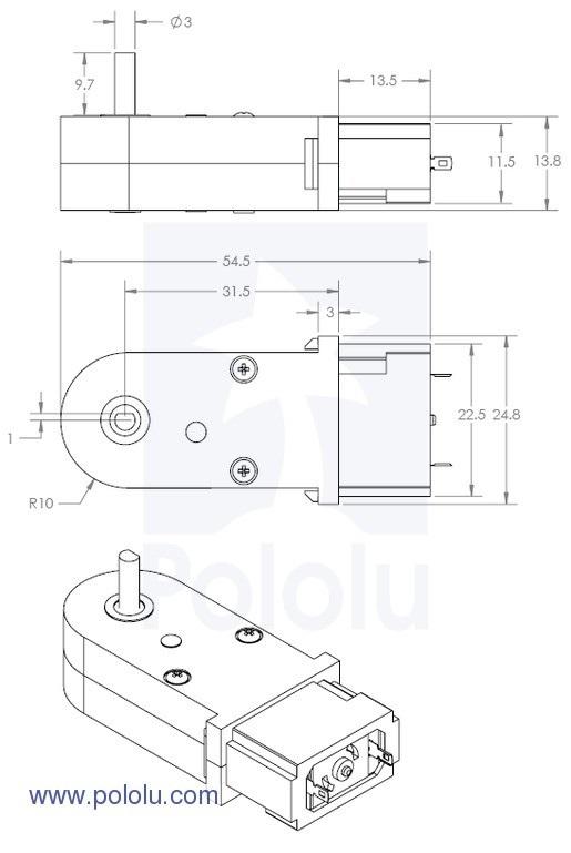 Silnik DC 120:1